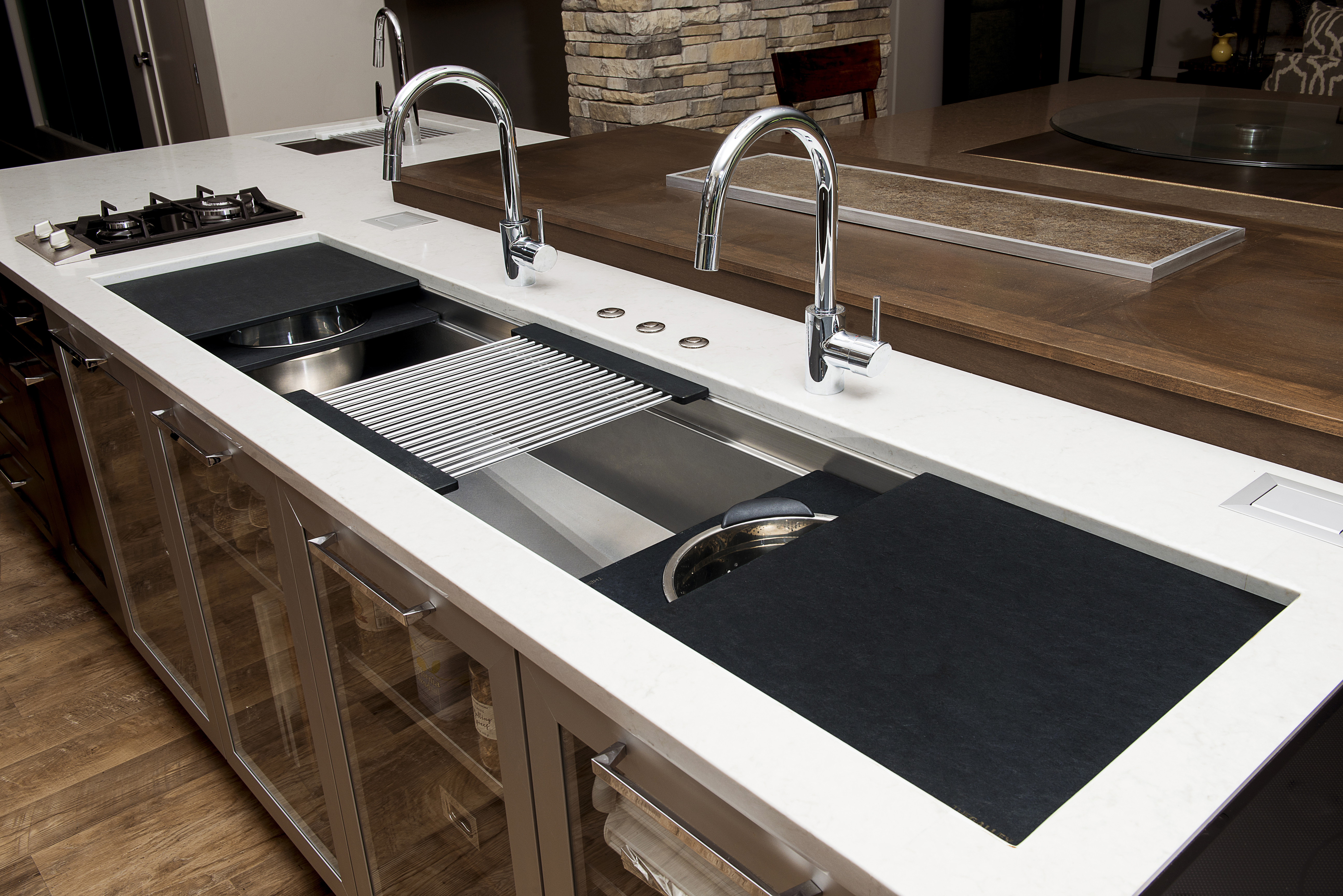 you can also select your preferred finish options so your galley workstation will look just as good as it performs