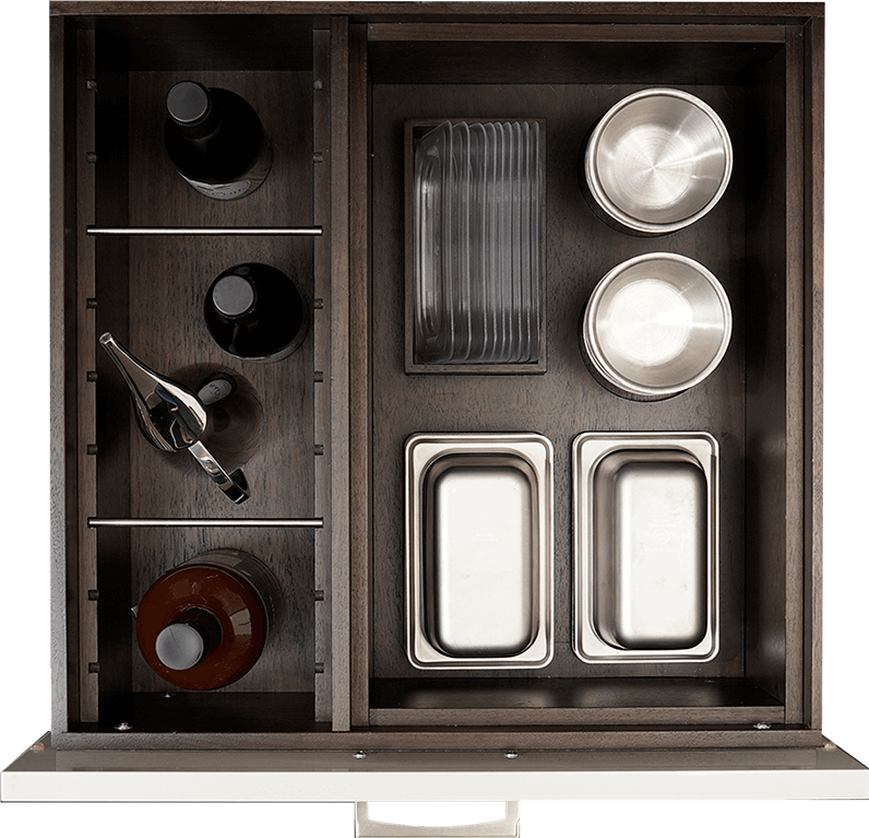 Oil Bottle and Galley Tool Storage